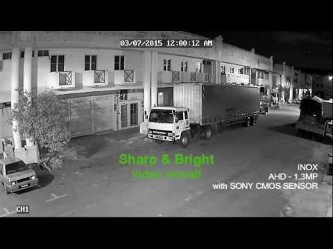AHD and TVI 1.3MP night video comparison