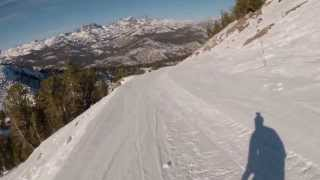 Mammoth Mountain - Skiing Upper Roadrunner to Lower Roadrunner