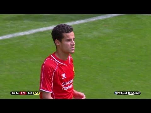 Philippe Coutinho vs Borussia Dortmund (Pre-Season 14-15) HD 720p