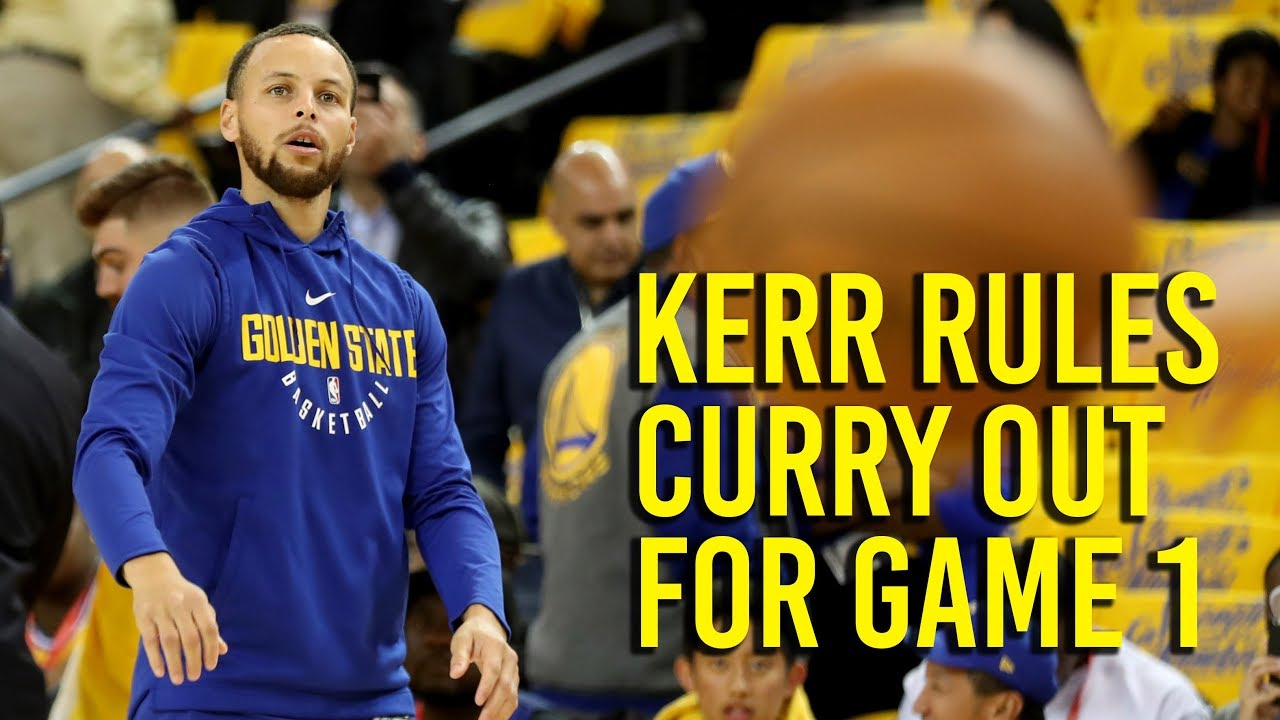 NBA Playoffs: Kerr says Curry out for game 1 against Pelicans, likely to play  game 2