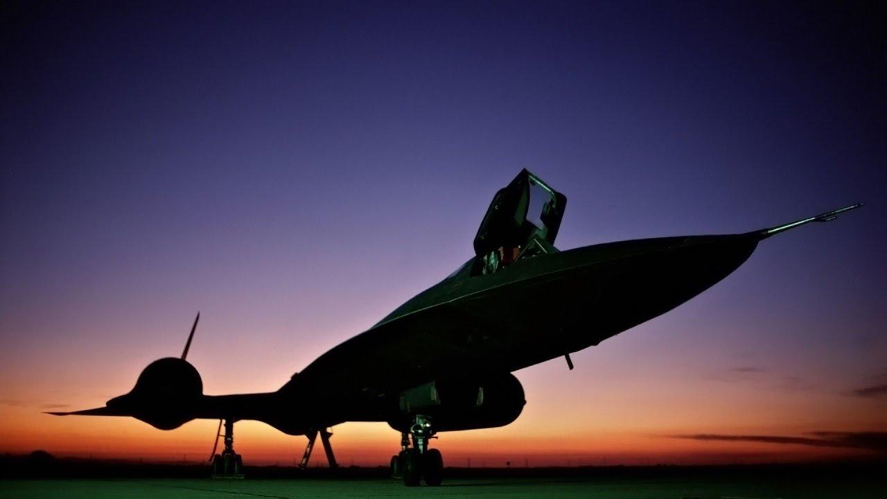 Blackbird plane in space