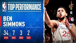 Ben Simmons Records Career-High 34 PTS!