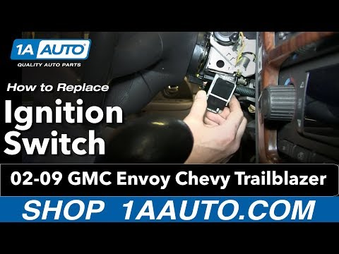 How To install Replace Ignition Switch 2002-09 GMC Envoy Chevy Trailblazer