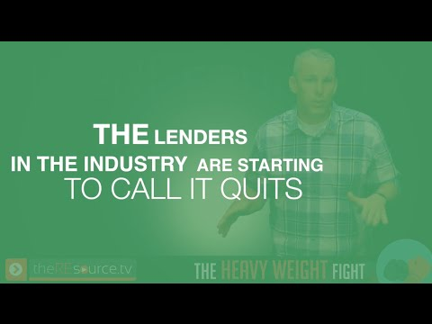 The Heavy Weight Fight  Lending Industry Fights Back   TheREsource.tv