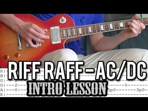AC/DC - Riff Raff Main Riff Guitar Lesson (With Tabs)
