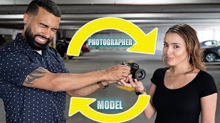Photographer & Model SWITCH ROLES! (This was embarrassing)