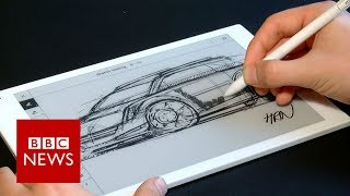 Digital notepad 'feels like real paper' - BBC News