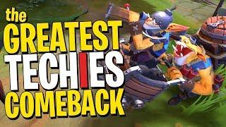 The GREATEST Techies Comeback - DotA 2
