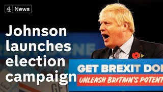 Boris Johnson launches Conservative Party election campaign