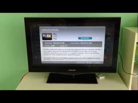 Plex app running on Samsung Internet TVs