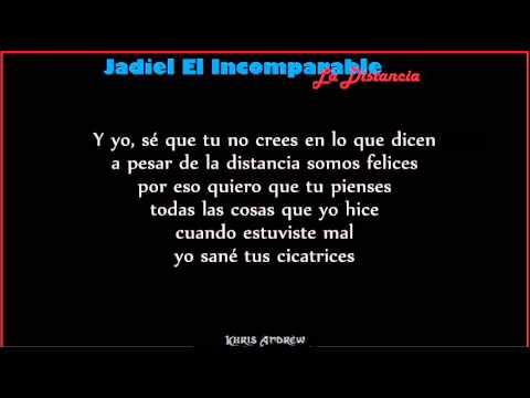 La Distancia - Jadiel (Letra)