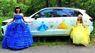 Polina going to the princesses party.