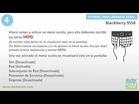Liberar Blackberry 9550. Desbloquear Blackberry 9550