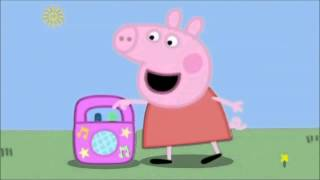 Peppa Pig listens to appropriate music