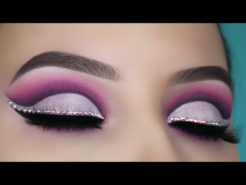 Diamond Purple Cut Crease Makeup Tutorial