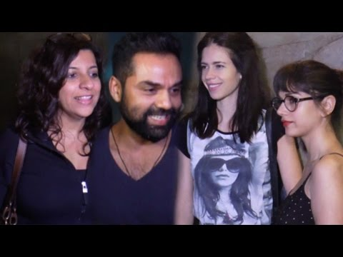 Kalki Koechlin, Abhay Deol, Zoya Akhtar And Others At Detective Byomkesh Bakshy Screening