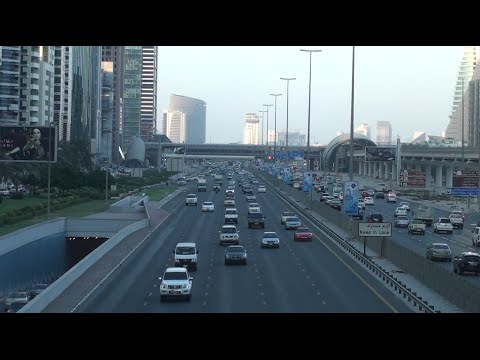 Dubai Metro - View from Emirates Towers Metro Station