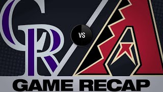 Blackmon, Arenado back Senzatela in win | Rockies-D-backs Game Highlights 6/18/19