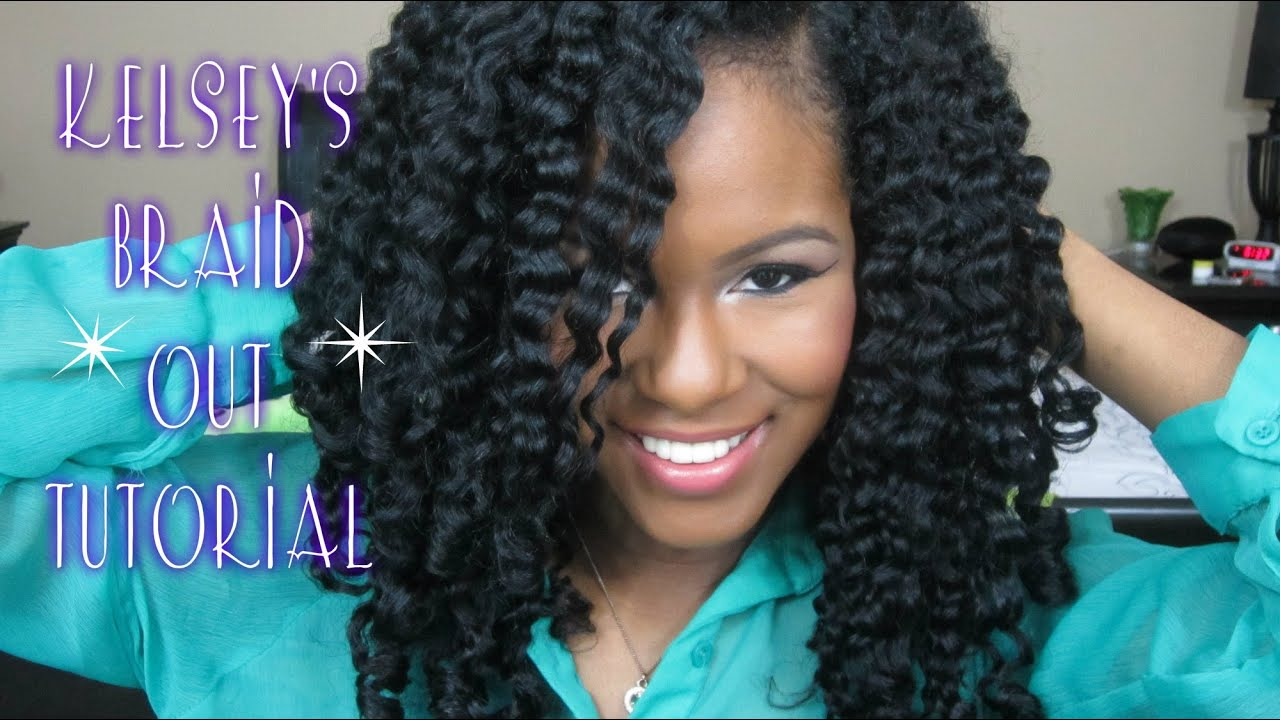 Kelsey S Braid Out Tutorial Youtube