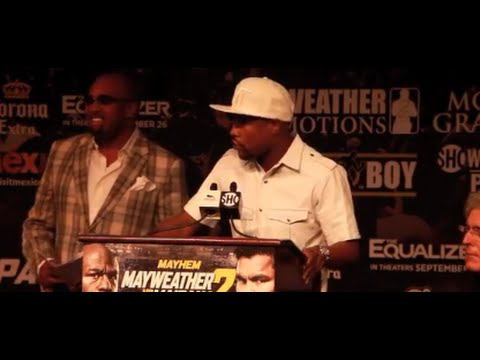 FLOYD MAYWEATHER v MARCOS MAIDANA 2 - FINAL OFFICIAL PRESS CONFERENCE - MAYHEM
