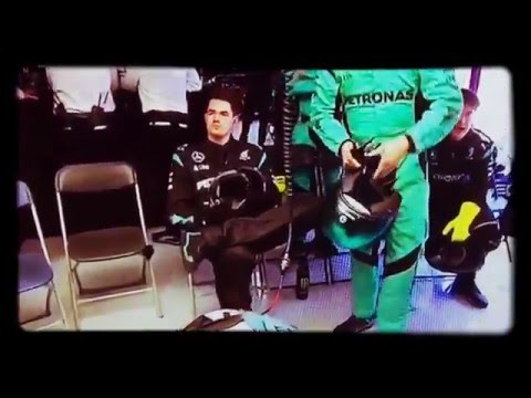 HAMILTON and ROSBERG crash (May 15 2016)