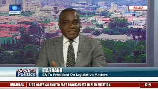 Ita Enang Reacts As Senate Moves To Override Buhari's Decision On Bills |Lunchtime Politics|