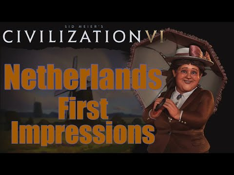 "This is a quick ""First Impression"" of the newly announced Netherlands Civilization in Civilization 6. This is going to be a very strong coastal and seafaring civilization. They should also..."