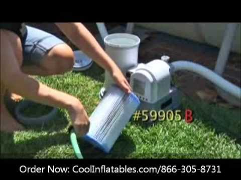 Intex 2500 gal/hr Filter Pump Model 633 Setup Instructions