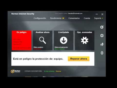 Como activar licencia de 30 dias Norton Internet Security