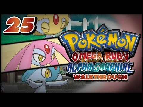 Pokémon Omega Ruby And Alpha Sapphire Walkthrough - How To Catch Uxie, Mesprit And Azelf In Or as! video
