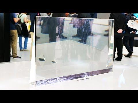 Смотрим прозрачный OLED телевизор Panasonic!
