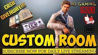PUBG Custom Room LIVE | CASH Giveaway | Unlimited Custom Room | N1 Gaming