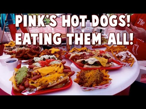 Full Menu: Pink's Hot Dogs w/ The Crude Brothers - WTF?   FreakEating in Hollywood