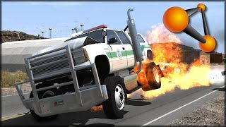 BeamNG Drive Cop Chases and Rollovers #6