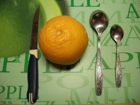 Как легко почистить апельсин ложкой Быстрый легкий способ