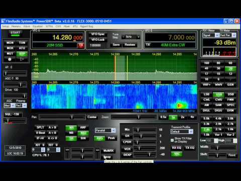 Flex 3000 SDR Demo - 20m Dec. 2010