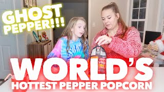 SWEET VS SPICY CHALLENGE / THE WORLD'S SPICIEST POPCORN | Bryleigh Anne