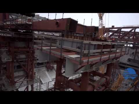 Новый стадион на Крестовском Острове c высоты птичьего полета. Aerial View.