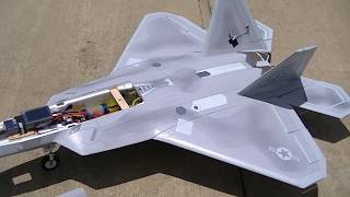 F-22 Raptor foamy with a real tubine jet
