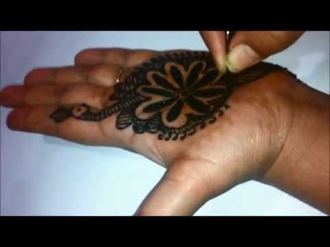 How To Draw Peacock With Henna, Easiest Way, DIY at Home For Beginners, Eid And