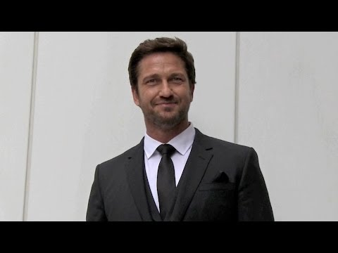 EXCLUSIVE - Gerard Butler at Boss Fashion Show in New York
