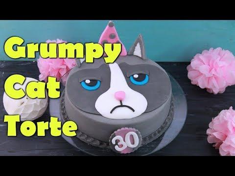 GRUMPY CAT TORTE BACKEN | Fondant Geburtstagstorte selber machen [Motivtorte] zum 30. Geburtstag
