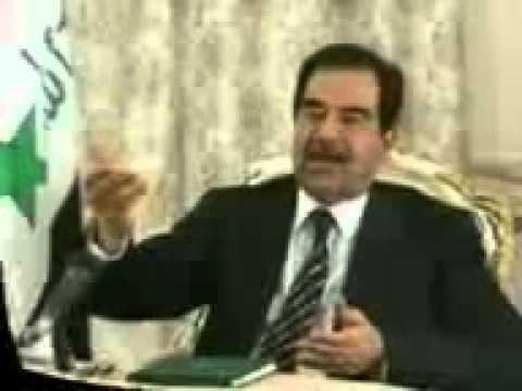 صدام حسين في كلام لن ينسية التاريخ - YouTube