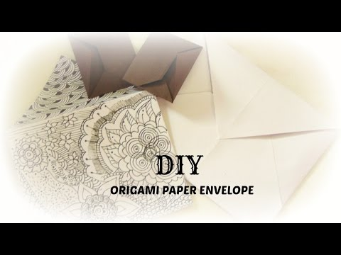PAPER CRAFT:How To Make Paper Origami Envelope easy & simple DIY