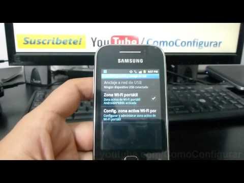 como configurar como modem el samsung galaxy Y S5360 español Full HD