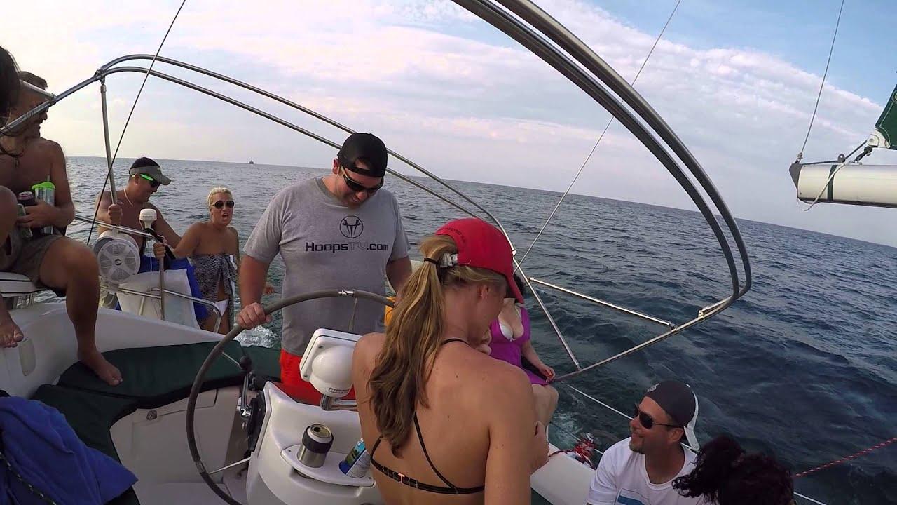 Lake Michigan sailing  gennaker