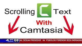 How to add scrolling text in video with camtasia bangla tutorial