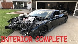 WRECKED Nissan GTR from Copart Rebuild Part #4