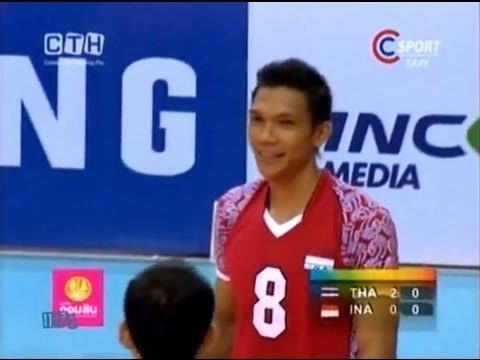 THAILAND-INDONESIA Men's Volleyball SEA Games 2011 Set 3