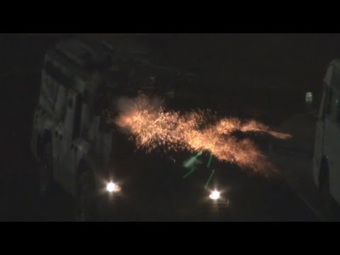 Bahrain : Riot Police Armoured vehicle Attack The Neighborhoods and Houses Heavily With Tear Gases